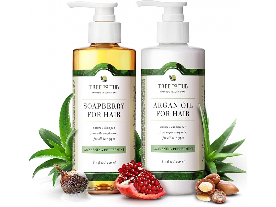 Free Peppermint Shampoo & Conditioner Set From Tree To Tub!