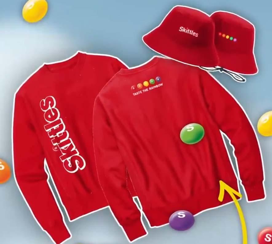 Free Hat / Sweatshirt From Skittles