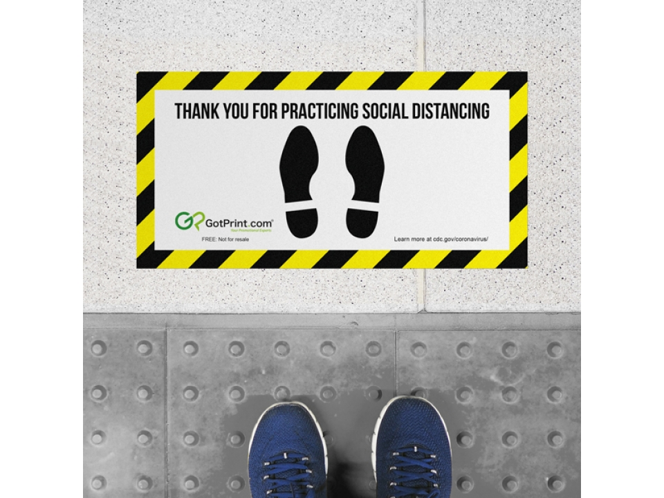 Free Social Distancing Floor Decals By GotPrint