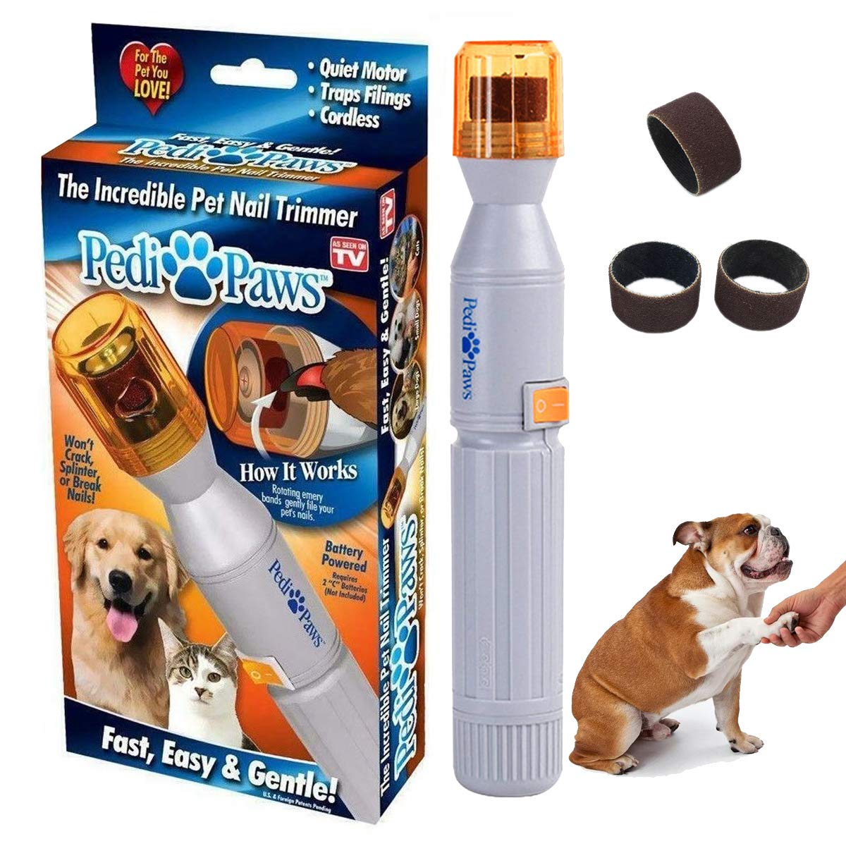 Free Dog / Cat Nail Trimmer Grooming Grinder From Pedi Paws